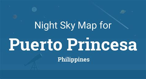 night sky map planets visible tonight  puerto princesa