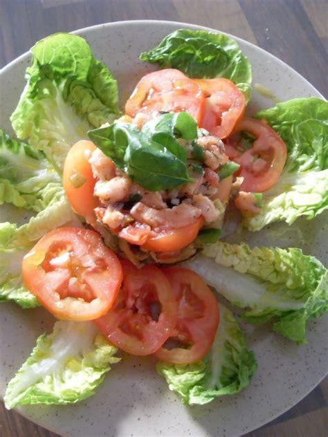 cuisine et sens salade de sucrine et saumon en tartare cuisine des sens