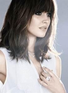 Frange Cheveux Mi Long : cheveux mi long brun frange ~ Melissatoandfro.com Idées de Décoration