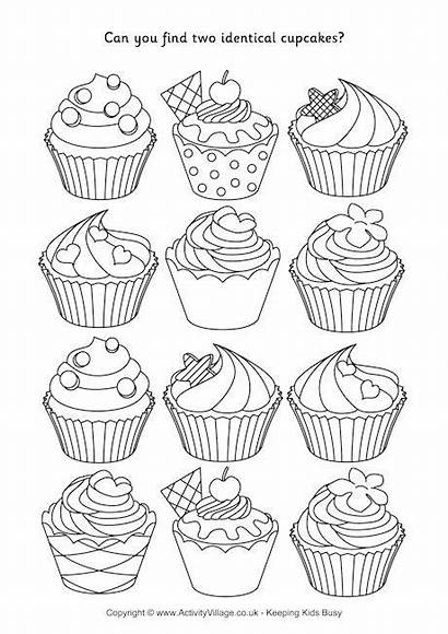 Cupcakes Puzzle Puzzles Identical Drink Cupcake Counting