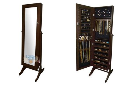 White Mirrored Jewelry Cabinet Armoire Canada by Costco Canada 70 Elise Brown Jewellery Armoire Now