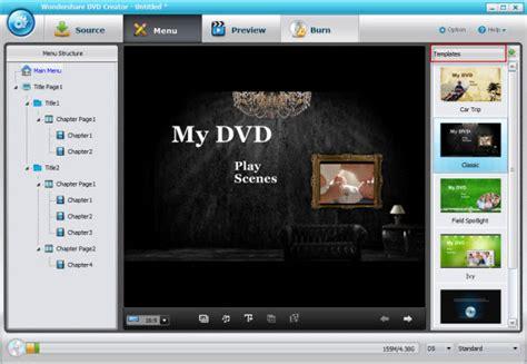 dvd met menu branden