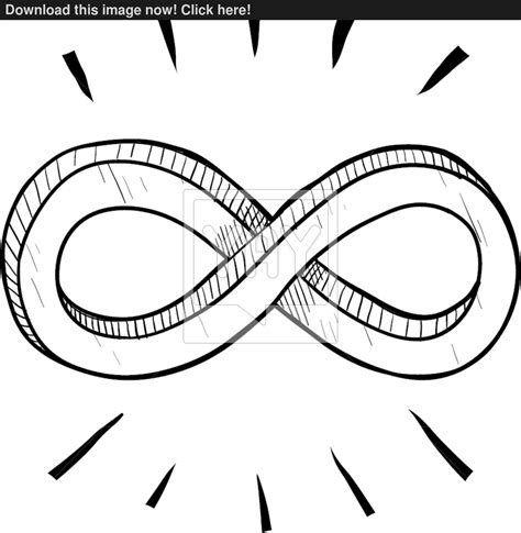 Coloring Vector Infinite Design by Infinity Symbol Sketch Vector Yayimages