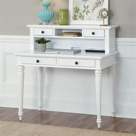 white student desk with hutch home styles bermuda brushed white student desk with