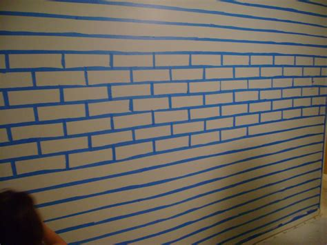how to paint bricks on a wall faux brick wall faux much fun frazzled mom and friends