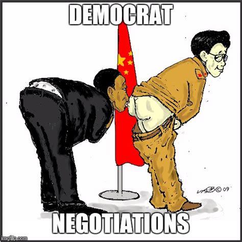 Anti Democrat Memes - image tagged in democrat negotiations political meme barack obama imgflip