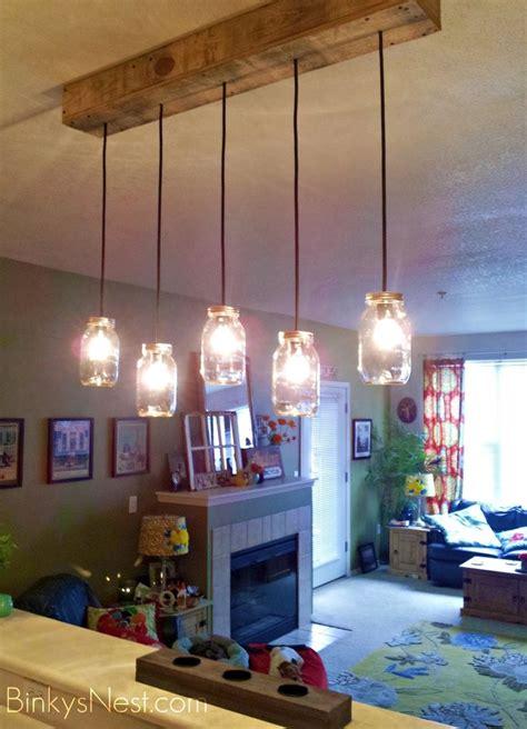 mason jar rustic pallet light fixture diy  binkysnest