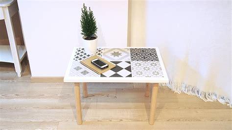 diy bricolage table basse en carreaux de ciment chocodisco
