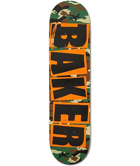 75 baker skateboard decks baker camo orange brand logo 7 75 quot team model skateboard