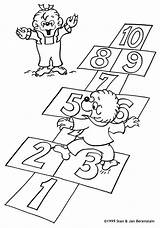 Coloring Berenstain Pages Bear Bears Hopscotch Colouring Sheets Count Play Learn Printable Sister Brother Books Berenstainbears Playing Birthday Did Toddler sketch template