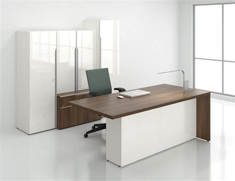Office Desk Storage by Nex Modern Executive Office Desk With Storage Bookcase