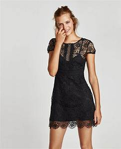 shopping zara robe en dentelle 4995eur robe noire shoko With robes de fetes zara