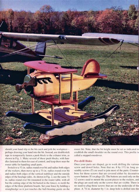 rocking airplane plans woodarchivist