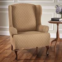 chair slip cover Newport Stretch Wing Chair Slipcovers