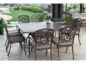 Darlee, Outdoor, Living, Series, 60, Cast, Aluminum, 60, Square, Dining, Table