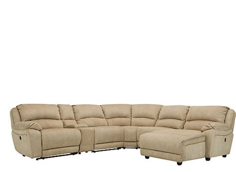 cindy crawford mackenzie 6 pc reclining sectional sofa