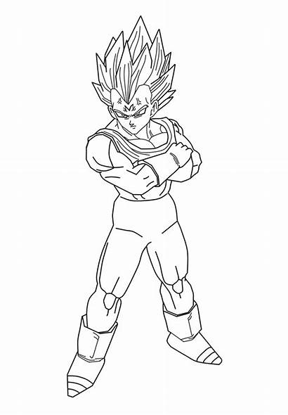 Vegeta Pages Majin Coloring Dragon Ball Drawing