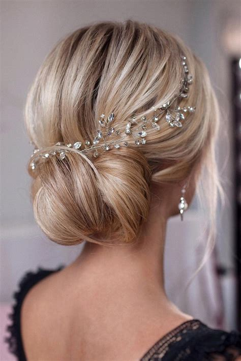 Of The Updo Hairstyles by 15 Stunning Low Bun Updo Wedding Hairstyles From