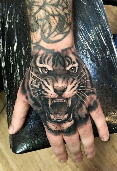 mind blowing tiger tattoo  hand