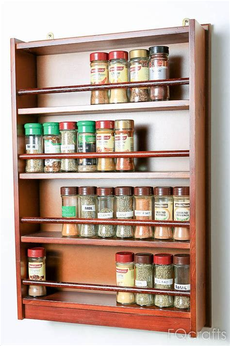wooden spice rack ideas  pinterest wooden spice rack  spices