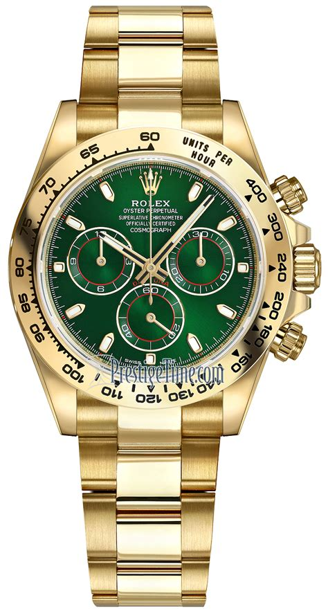 116508 Green Index Oyster Rolex Cosmograph Daytona Yellow ...