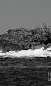 Downings Coast Waves County Donegal Ireland bw Photograph ...