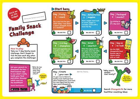 family snack challenge leaflet phe school zone