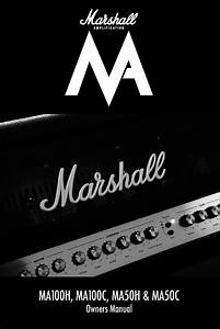 Marshall Amplification Ma100c Amplifier Owner U0026 39 S Manual Pdf