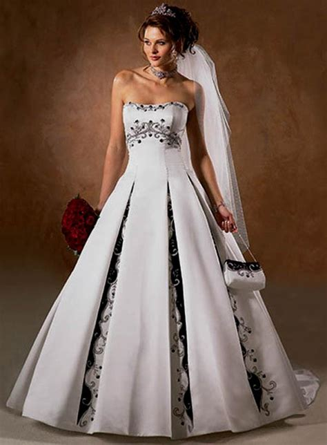vintage white and black wedding dress half sleeve v neck wedding dress ideas