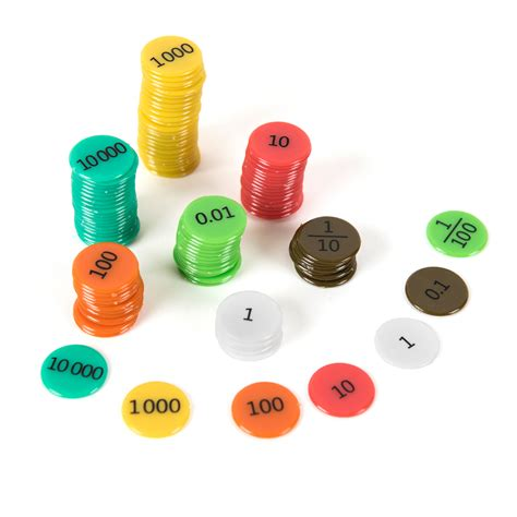 And Counters by Buy Coloured Sided Place Value Counters Free