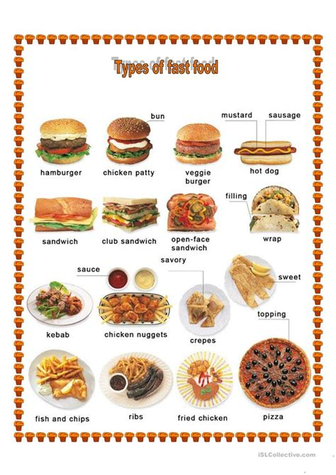 different types of cuisines in the different types of food worksheet free esl printable worksheets made by teachers