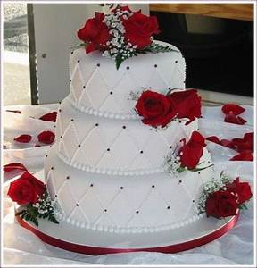 red and white rose wedding cake ideas - Google Search ...