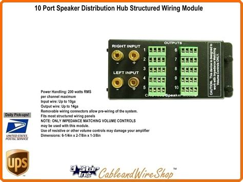 Structured Wiring Output Speaker System Distribution