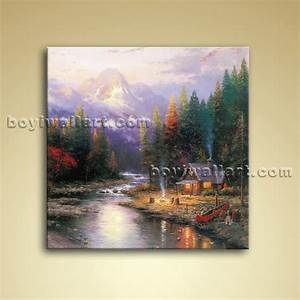 Classical Abstract Landscape Painting Oil On Canvas Wall ...