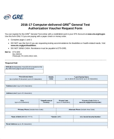 sample authorization request form  examples  word