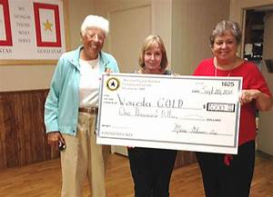 10 13 2016 worcester gold receives 1000 donation for American legion donation letter