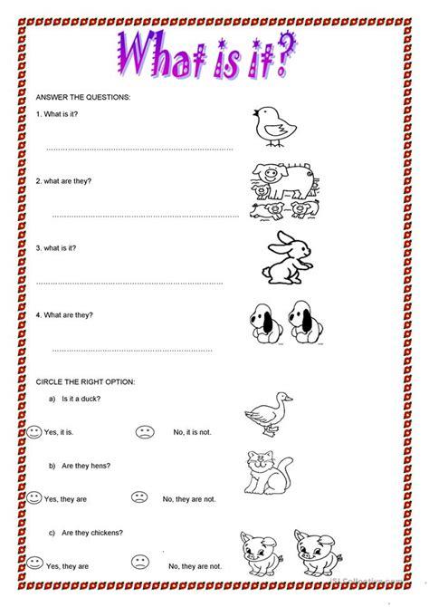 What Is It? Worksheet  Free Esl Printable Worksheets Made By Teachers