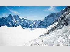 Bernese Alps Winter Mountains 4K Wallpapers HD