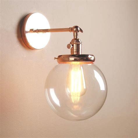 wall sconce glass shade vintage industrial wall l