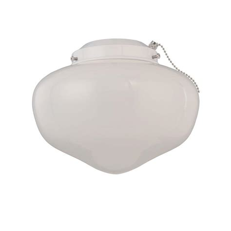 westinghouse 1 light white schoolhouse glass ceiling fan