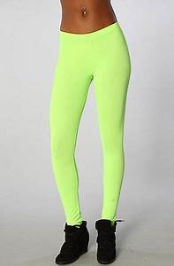 The Turnt Up Leggings in Neon Green