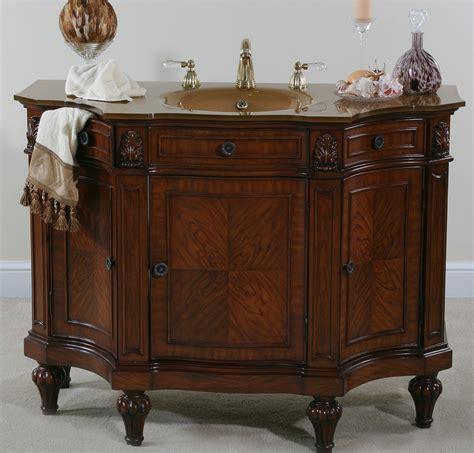 Vintage Curved Glass Curio Cabinet by Afd Hyde Park 48 Inch Vintage Vanity Bathroom Vanity