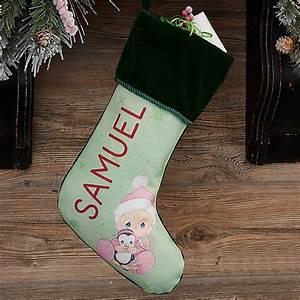 Precious, Moments, U00ae, Personalized, Baby, U0026, 39, S, 1st, Christmas, Stocking