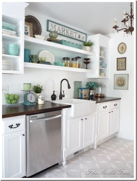 open cabinets kitchen ideas open shelving in the kitchen town country living