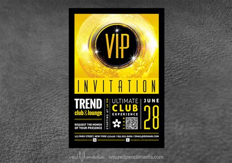 vip club event invitation redpencilmedia