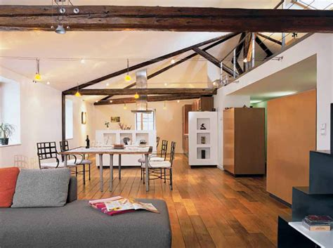 isolation hotte cuisine aménager un loft sous les combles