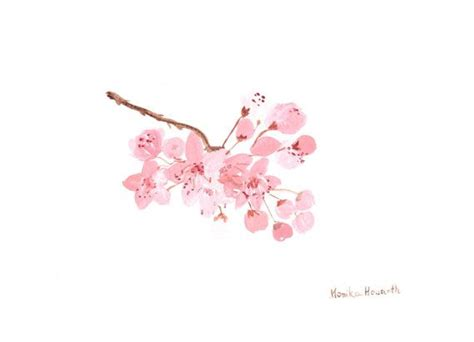 Tatouage Vanité by Original Watercolour Painting Cherry Blossom By
