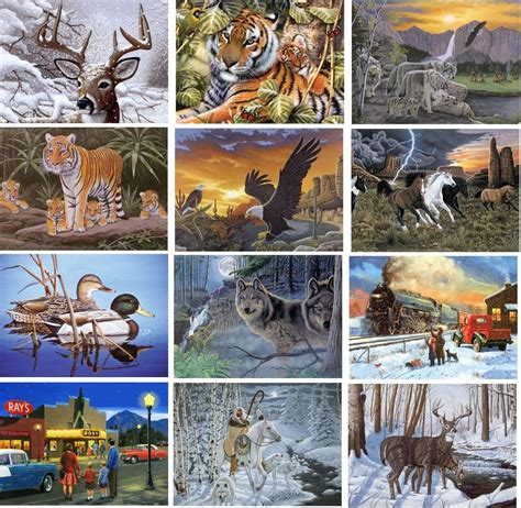 12 new designs large a3 paint by numbers artist kits with