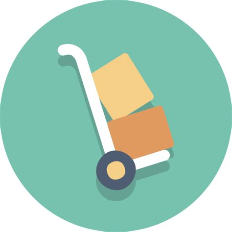 Dolly, packages, Delivery, hand truck icon