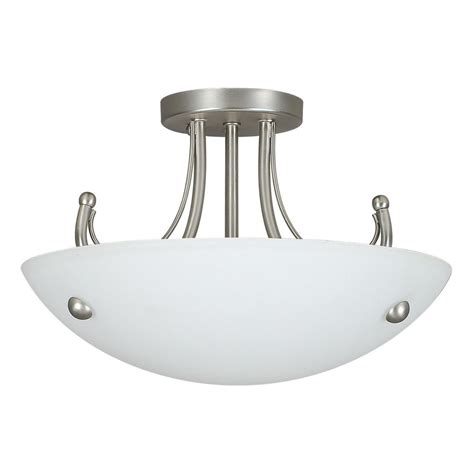 fillament design atropolis 2 light ceiling satin nickel